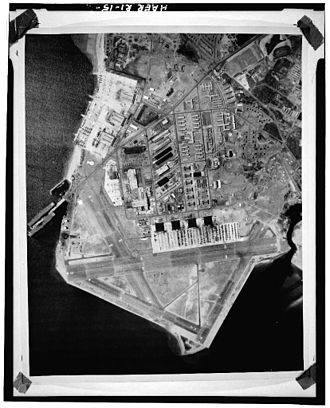 Quonset Point - Quonset Point in the 1960s from an aerial shot.
