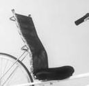 Bicycle seat - Seat of an Easy Racers Gold Rush.