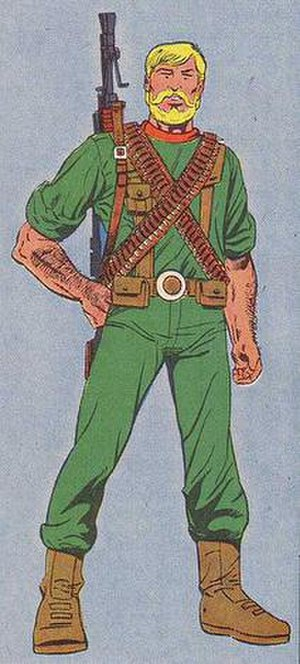 Rock 'n Roll (G.I. Joe) - Illustration of Rock 'n Roll from G.I. Joe: Order of Battle. Art by Herb Trimpe.