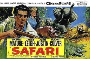 Safari (1956 film) - British original 1956 promotional poster