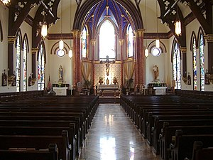 Cathedral of Saint Mary (Austin, Texas) - Image: Saint Mary's Cathedral Austin Texas Nave