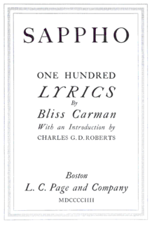 <i>Sappho: One Hundred Lyrics</i>