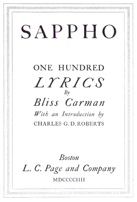 First edition of Sappho, 1904. Sappho.png