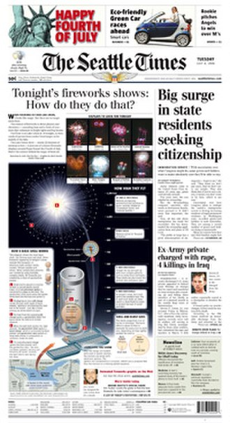 The Seattle Times - The July 4, 2006, front page of The Seattle Times
