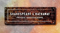 Picture of a TV show: Shakespeare & Hathaway: Private Investigators
