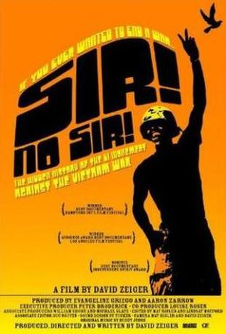 Sir! No Sir! - Promotional movie poster for the film
