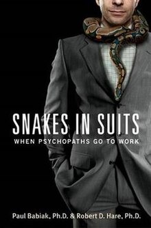 Snakes in Suits When Psychopaths Go to Work (book) cover.jpg