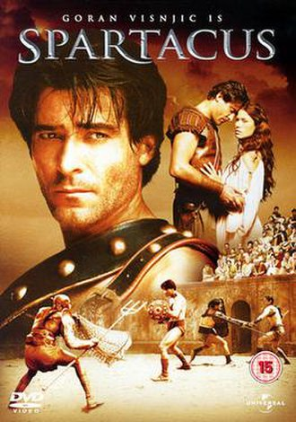 Spartacus (miniseries) - UK Region 2 DVD cover
