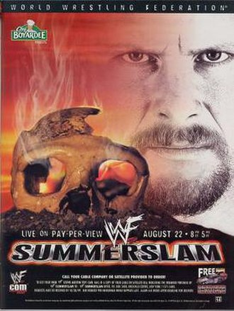 SummerSlam (1999) - Promotional poster featuring Stone Cold Steve Austin