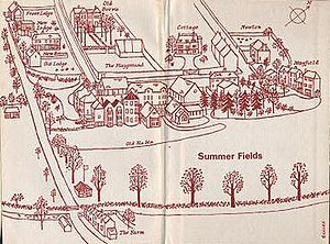 Summer Fields School - Drawing of Summer Fields from A Century of Summer Fields, 1964