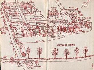 Summer Fields School - Drawing of Summer Fields from A Century of Summer Fields, 1964