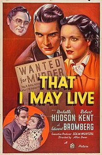 <i>That I May Live</i> 1937 film by Allan Dwan
