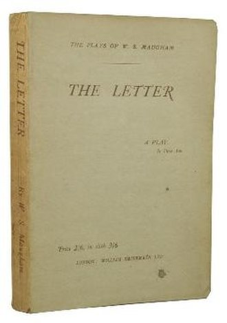 The Letter (play) - First edition (Heinemann 1927)