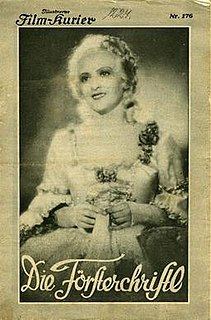 <i>The Foresters Daughter</i> (1931 film) 1931 film by Frederic Zelnik
