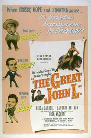The Great John L. - Theatrical release poster