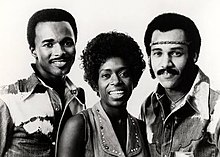 The Hues Corporation in 1970: Karl Russell, H. Ann Kelley and St. Clair Lee (left to right)