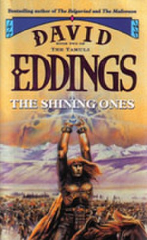 "The Tamuli - The front cover of a 1995 Voyager edition of ""The Shining Ones""."