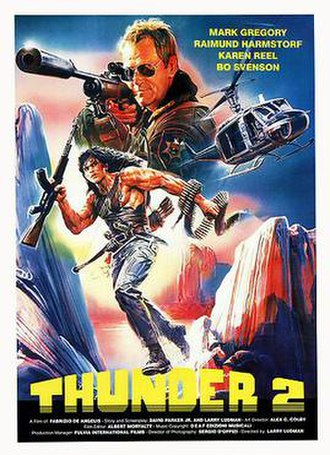Thunder Warrior II - Theatrical release poster by Enzo Sciotti