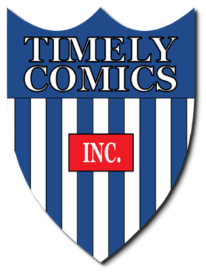 Timely Comics - The original Timely Comics logo.