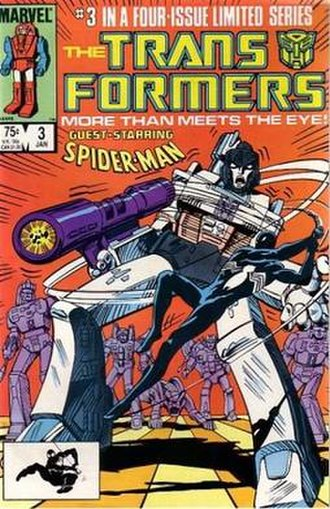 Transformers - Image: Transformers Marvel Comics Spider Man vs. Megatron