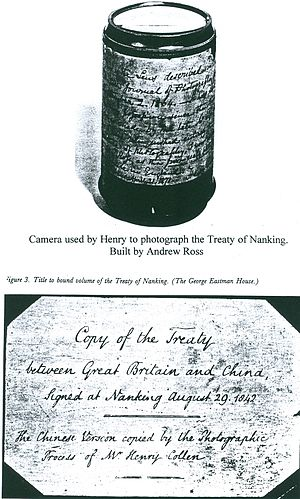 Henry Collen - Treaty of Nanking and Camera