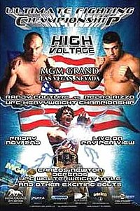 A poster or logo for UFC 34: High Voltage.