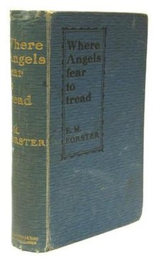 Where Angels Fear to Tread (Forster novel) 1st edition cover.jpg