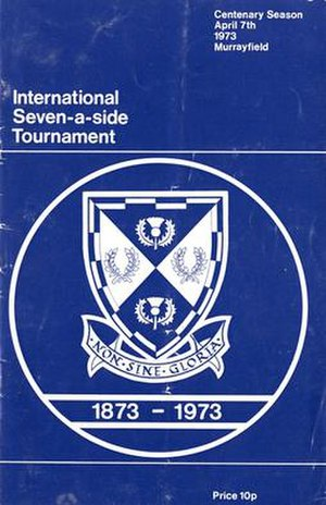 1973 International Seven-a-side Tournament - Image: 1973International Seven A Side Programme