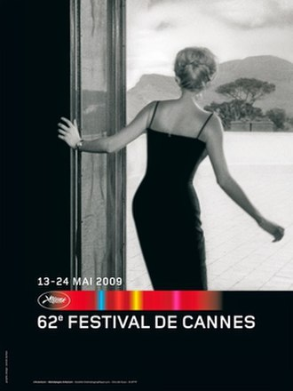 2009 Cannes Film Festival - The poster shows a still from the film L'Avventura by Michelangelo Antonioni.