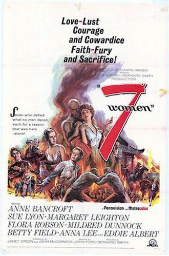 7 Women - 1966 theatrical poster by Reynold Brown