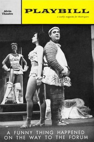 A Funny Thing Happened on the Way to the Forum - Playbill from the original Broadway production