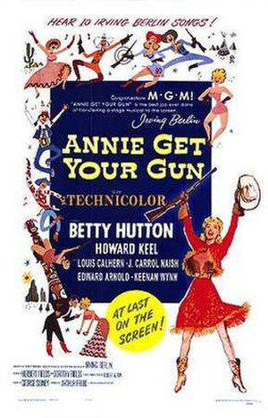 Annie Get Your Gun (film) - Theatrical release poster