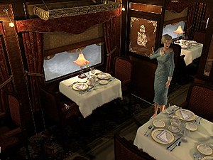 Agatha Christie: Murder on the Orient Express - Antoinette Marceau looks through a carriage for clues.
