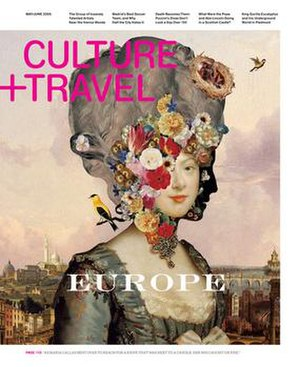 Culture+Travel - The award-winning May /June 2008 edition cover, by Emily Crawford.