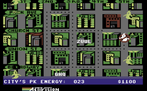 Commodore 64 software - Ghostbusters by Activision, 1984.