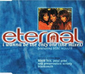 I Wanna Be the Only One - Image: CD Single Cover for Eternal I Wanna Be The Only One CD2