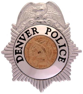 Denver Police Department - Image: CO Denver Police Badge