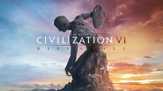 Civilization VI: Rise and Fall - The key art piece of Rise and Fall, depicting Discobolus, continuing the statue motif of Civilization VI