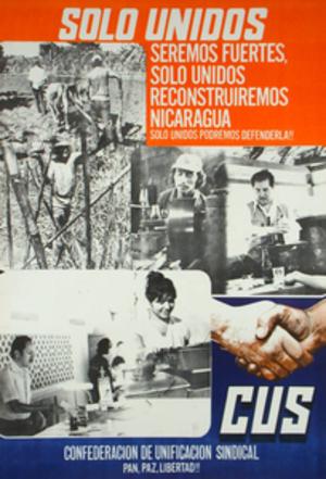 Confederación de Unificación Sindical - 1989 CUS poster