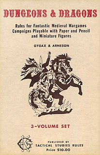 <i>Dungeons & Dragons</i> (1974) Tabletop role-playing game supplement for Dungeons & Dragons