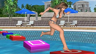 Dead or Alive Paradise - Hitomi in the poolhopping minigame