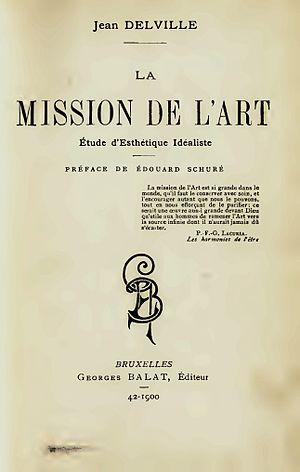 Jean Delville - Title page of Jean Delville's La Mission de L'Art, 1900