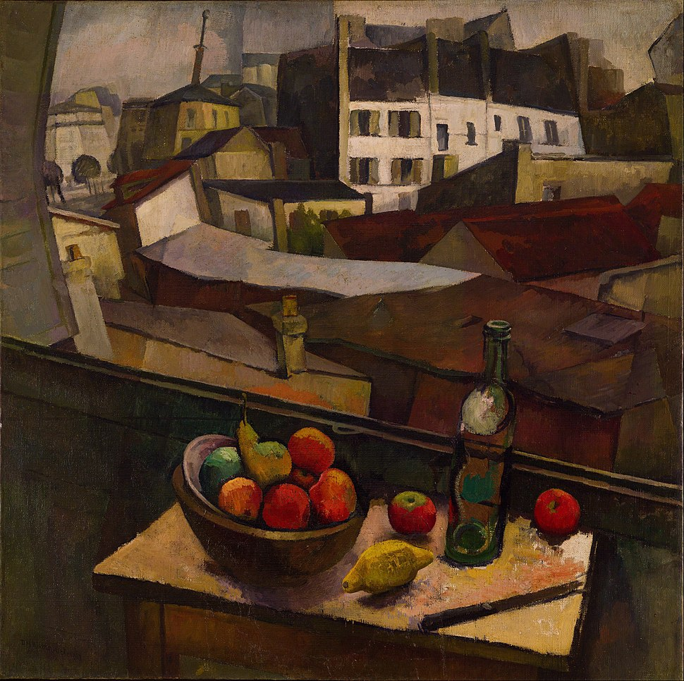 Diego Rivera - Knife and Fruit in Front of the Window - Google Art Project