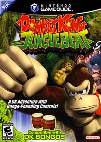 Donkey Kong Jungle Beat - North American GameCube box art
