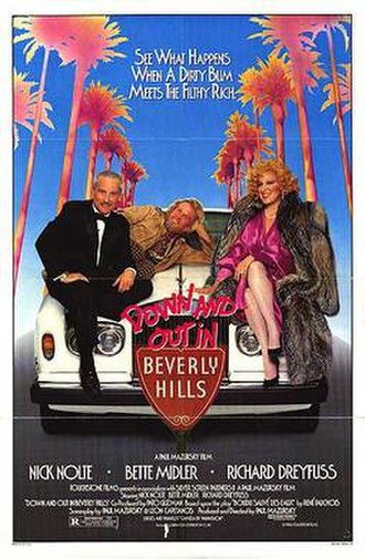 Down and Out in Beverly Hills - Theatrical release poster