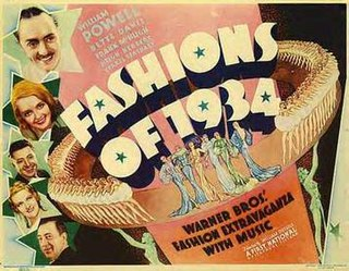 <i>Fashions of 1934</i> 1934 American musical comedy film directed by William Dieterle