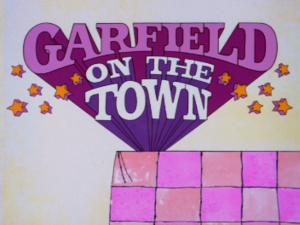 Garfield on the Town - Title card