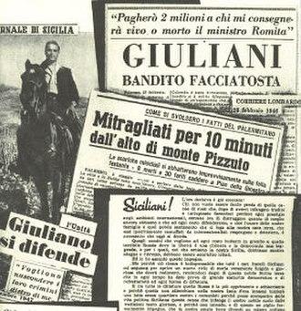 Salvatore Giuliano - Image: Giuliano clippings