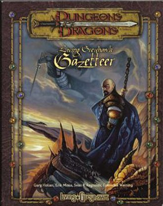 Mordenkainen - Mordenkainen on the cover of the Living Greyhawk Gazetteer, depicted with a shaven head and Van Dyck beard.