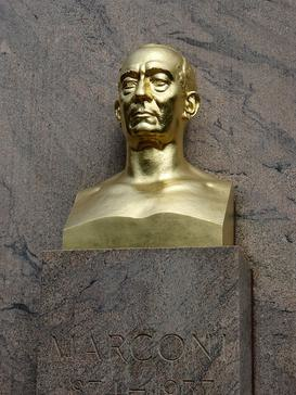 Guglielmo Marconi Detail Bust